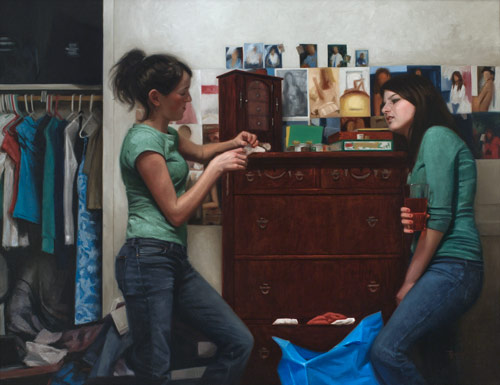 Dialogue, Oil on Canvas, by Ryan Frederickson